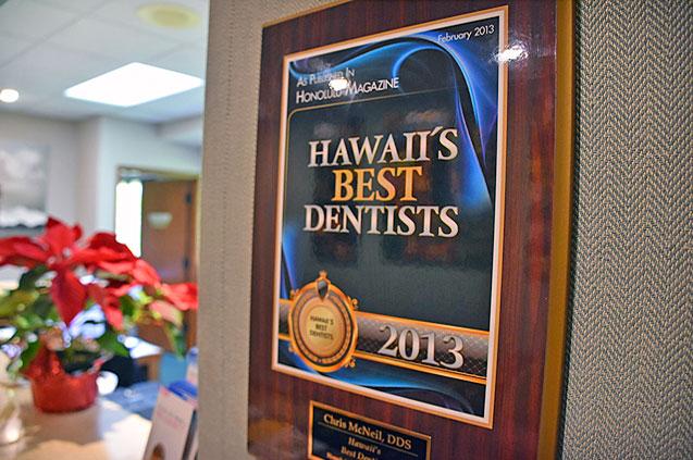 Hawaii best dentist dr. chris mcneil restorative dentistry